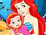 Pregnant Ariel Gives Birth